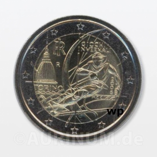 2 Euro Italy 2006 Olympic Winter Games Turin
