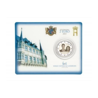 2 Euro Luxembourg 2015, 15. Anniversary of Accession Henry in Coincard