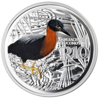 1 oz Silver South Africa White-Backed Night Heron Waterberg Biosphere Reserve 2018 Proof