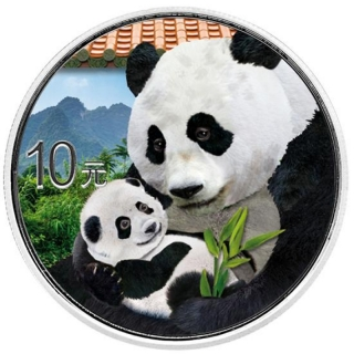 30 g Silver Chinese Panda (In Capsule) 2019 colored