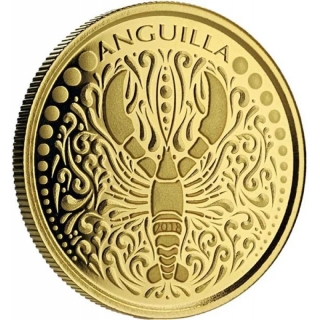 2018 Anguilla 1 oz Gold Lobster (1)  EC8