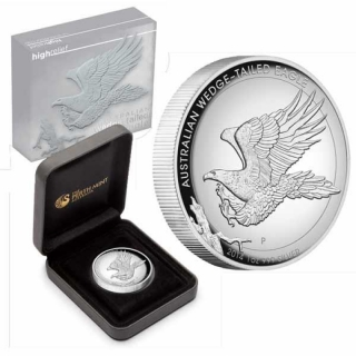 Australien 1 Unze Silber Keilschwanzadler Wedge- Tailed Eagle 2014 High Relief PP