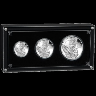 Three-Coin Set Silver Australian Lunar Year of the Mouse Coin (SIII) 2020