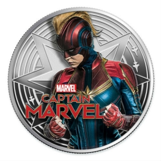 Fiji 2019 1 $ Dollar 1 Oz Silber Captain Marvel Proof
