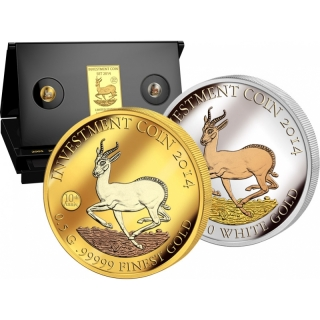 Gabun Investment Coin Set Springbock Jubilee Edition 10th Anniversary 2014