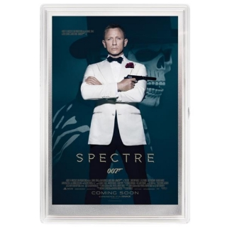 JAMES BOND 007? - SPECTRE?  MOVIE POSTER - SILVER FOIL