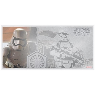 Niue Islands 1 Dollar Star Wars The Force Awakens Stormtrooper 5 g Silber Münznote, 2019,