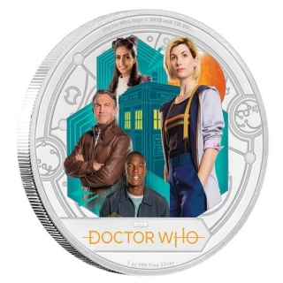 Niue Islands 2 Dollar Dr. Who, Season 11 1 Unze Silber coloriert, 1 oz, 2018