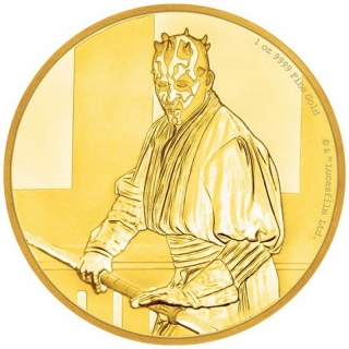 Niue Islands 250 $ - 1 Oz Gold Darth Maul Star Wars 2018 Proof
