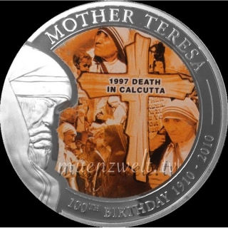 2010 Palau Mother Teresa -Death in Calcutta 1 Dollar