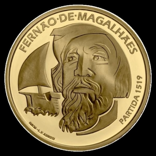 Portugal  7,5 Euro Gold 500th Anniversary Of Magellan Circun-Navigation - The Departure 1519 Silver 2019 Proof