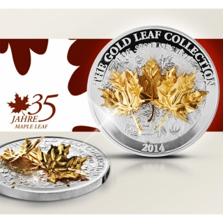 Samoa 10 Dollars Samoa Gold Leaf Kollektion Maple Leaf 2014