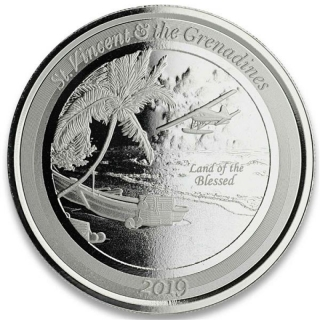 St. Vincent & The Grenadines,  2 Dollar, Seaplane (2) EC8 1 Unze Silber, 1 oz BU 2019